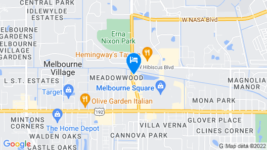 Extended Stay America - Melbourne - Airport Map