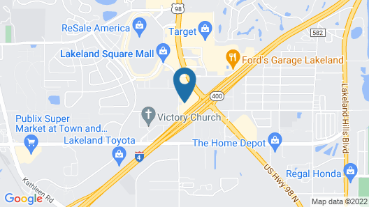 TownePlace Suites by Marriott Lakeland Map