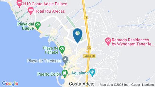 Hotel Best Jacaranda Map