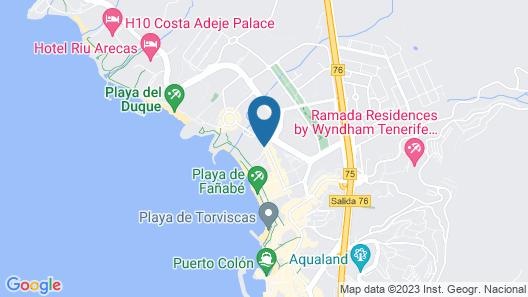 Hotel Jardines de Nivaria Map