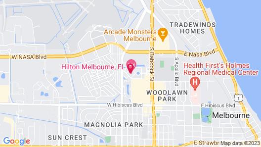 Hilton Melbourne, FL Map