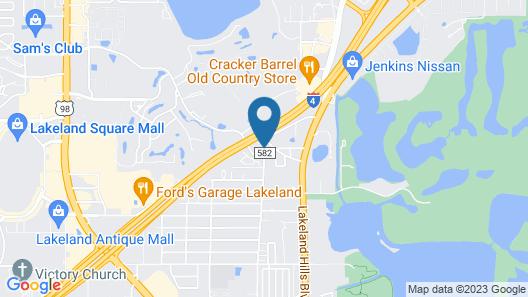 WoodSpring Suites Lakeland Map