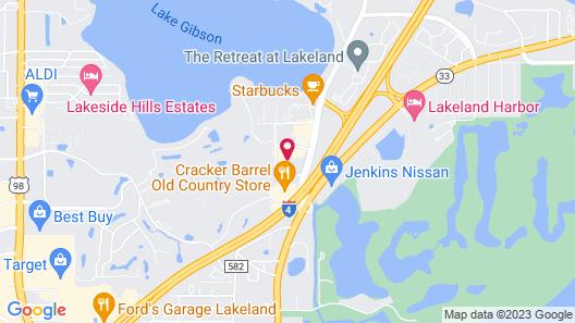 Hampton Inn Lakeland Map