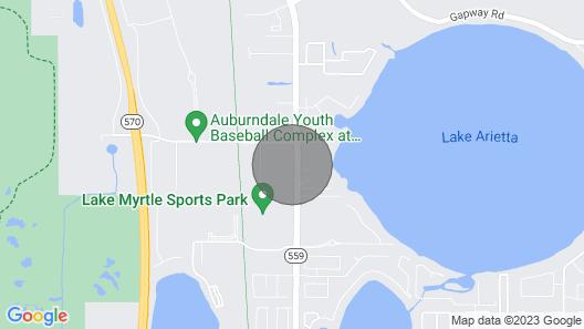 Near Lake Myrtle Sports Park, Walking Distance  Map
