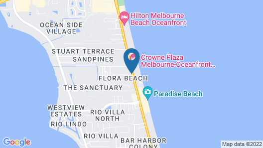 Crowne Plaza Hotel Melbourne - Oceanfront, an IHG Hotel Map
