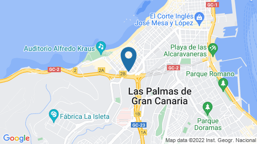 Apartment With 2 Bedrooms in Las Palmas de Gran Canaria, With Wonderful sea View and Wifi - 180 m From the Beach Map