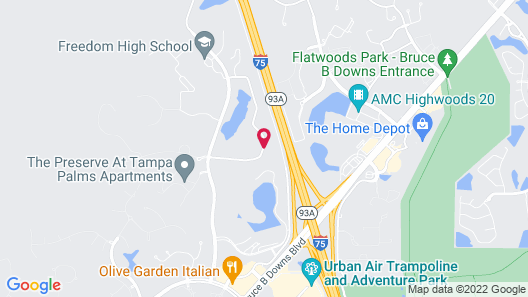 SpringHill Suites by Marriott Tampa North/I 75 Tampa Palms Map