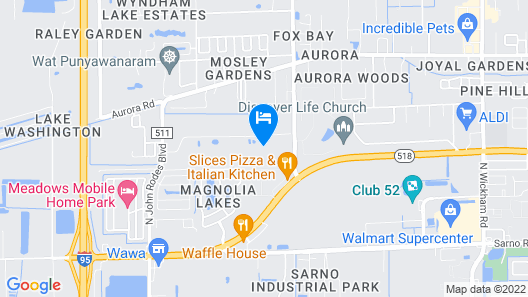 OYO Family Ranch at Melbourne FL Map