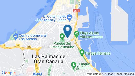 Apartamentos Las Palmas Urban Center Map