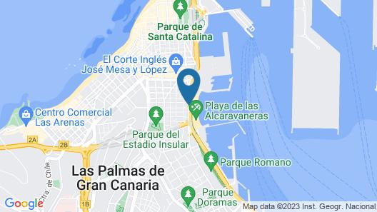 Hotel Silken Saaj Las Palmas Map