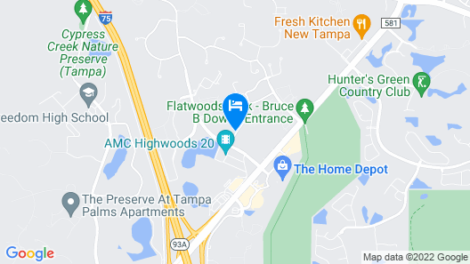 Holiday Inn Express Hotel & Suites New Tampa I-75 Map