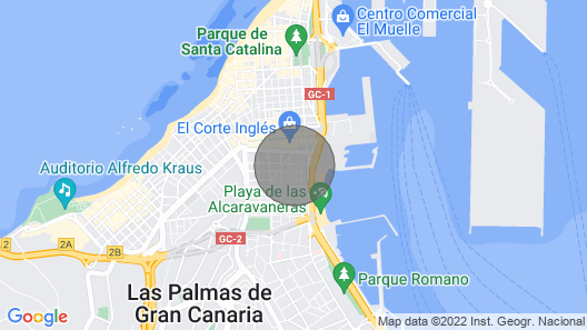 Modern Apartment Only 10 Minutes Walk From Las Canteras Beach Map