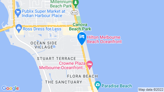 Hilton Melbourne Beach Oceanfront Map