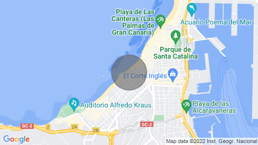 Luxury Apartment With Pool on the Beachfront of Las Canteras Map