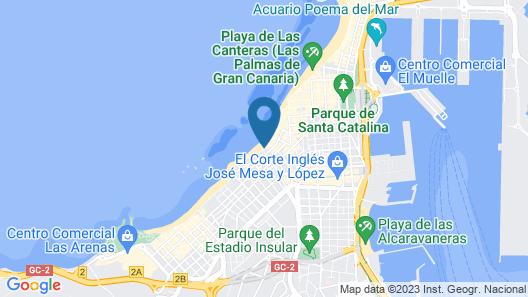 Vacacional Playa Las Canteras Map
