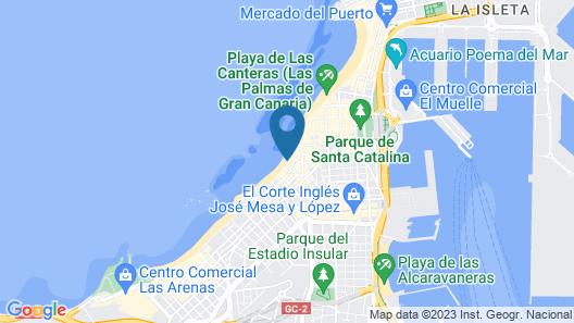 Apartamentos Brisamar Canteras Map
