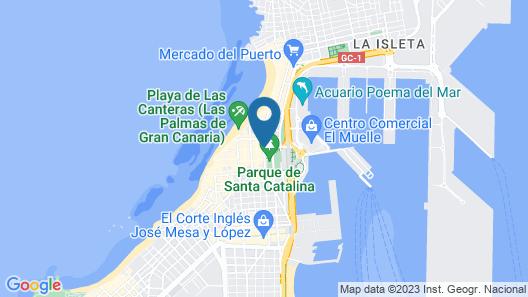 OYO Miami Santa Catalina Map