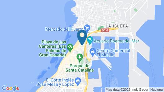 Hotel Cristina las Palmas Map