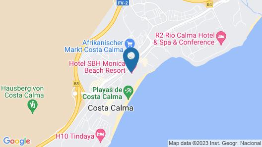 SBH Monica Beach Hotel Map