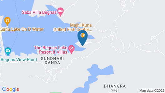 Begnas Lake Front Guest House Map