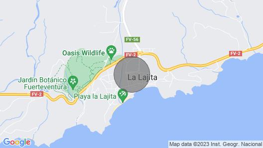 Airán Apartments - La Lajita Map