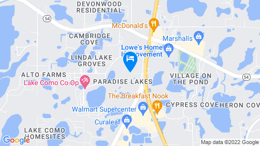 Paradise Lakes Resort, Clothing Optional Resort - Adult Only Map