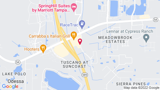 Residence Inn Tampa Suncoast Parkway at NorthPointe Village Map
