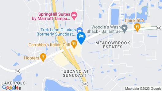 Hilton Garden Inn Tampa Suncoast Parkway Map