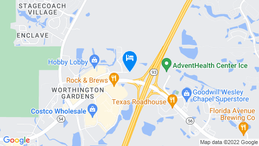 Hyatt Place Tampa/Wesley Chapel Map