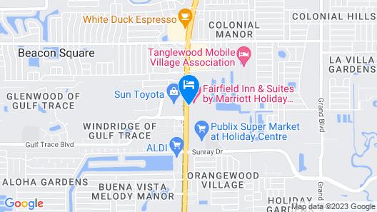 Fairfield Inn & Suites Holiday Tarpon Springs Map