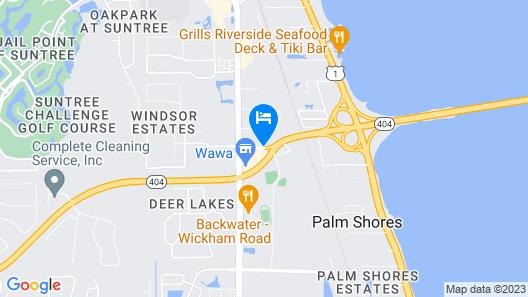 Candlewood Suites Melbourne Map