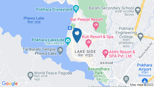 Nepali Cottage Guest House Map