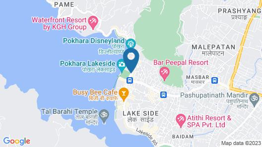 Pokhara Village Resort Map