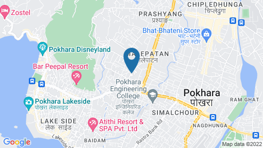 The Pipal Tree Bed and Breakfast Pokhara Map