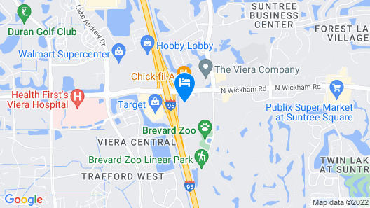 Hampton Inn Melbourne - Viera Map