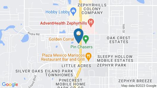 Quality Inn Zephyrhills-Dade City Map