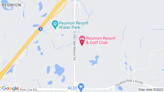 Reunion Resort Official Vacation Homes Map