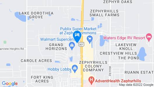 Microtel Inn & Suites by Wyndham Zephyrhills Map