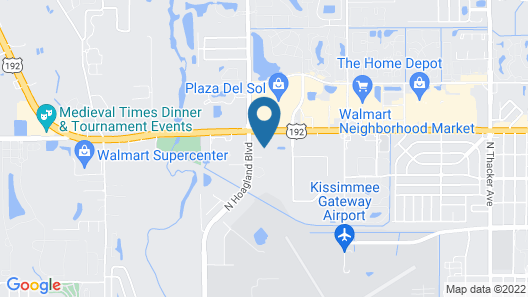 Ramada by Wyndham Kissimmee Hotel Map