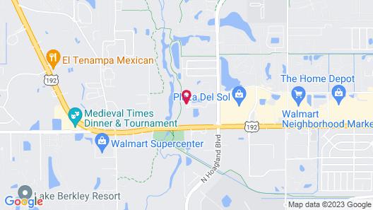 The Tropical Oaks Villa - Near Disney Map