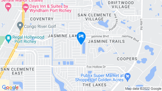 Newly Renovated Pool and Lake Dream Home Map