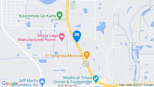 Knights Inn Kissimmee Map
