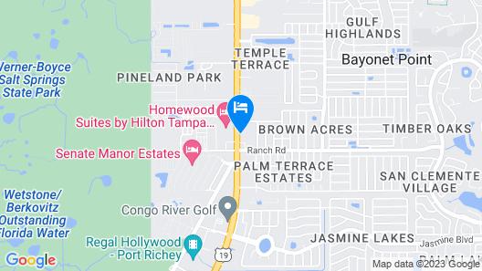 Hampton Inn & Suites Port Richey Map