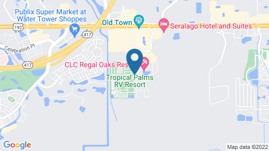 Tropical Palms Resort Map