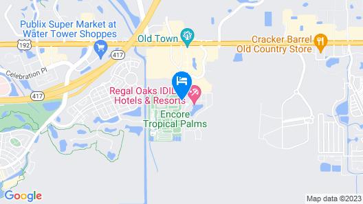CLC Regal Oaks Resort Vacation Townhomes Map