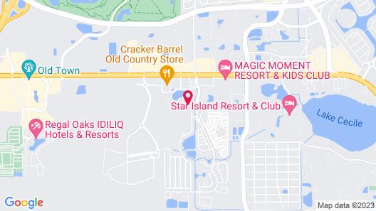 Club Wyndham Cypress Palms Map
