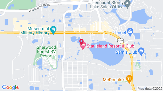 Star Island Resort and Club Map