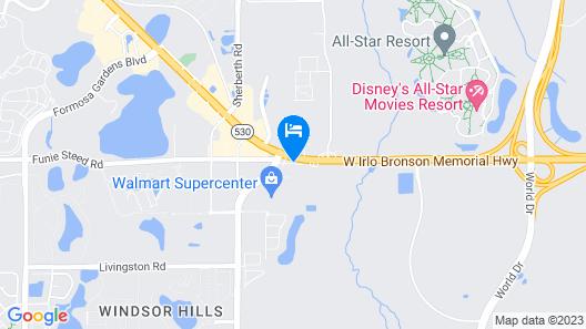 Ramada by Wyndham Kissimmee Gateway Map