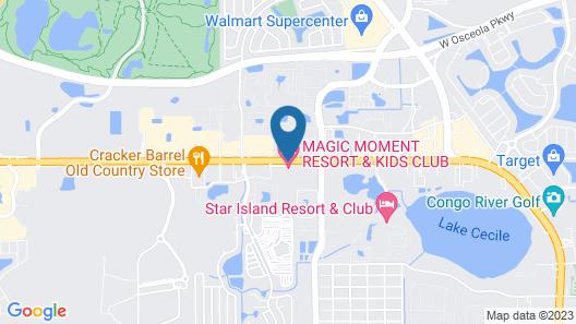 Magic Moment Resort and Kids Club Map