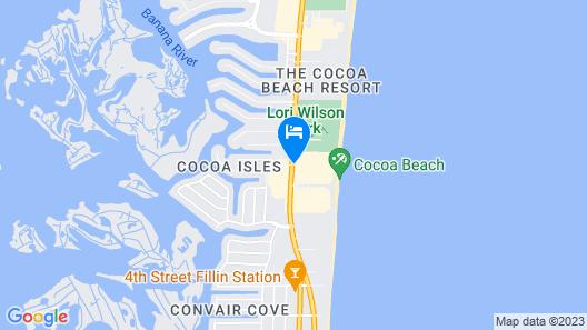 International Palms Oceanfront Resort Cocoa Beach Map